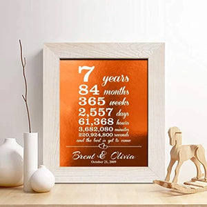 Copper Art- Copper Anniversary Foil Print