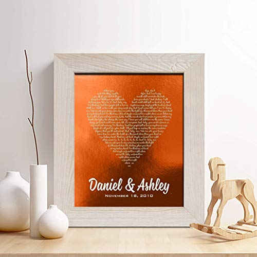 Copper Art- Personalized Copper Art Print