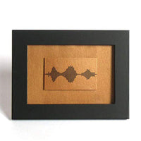 Copper Art- Personalized Soundwave Print
