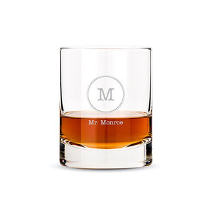 Custom Monogram Whiskey Glass
