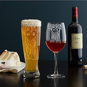 Engraved Tree Glasses- Personalized