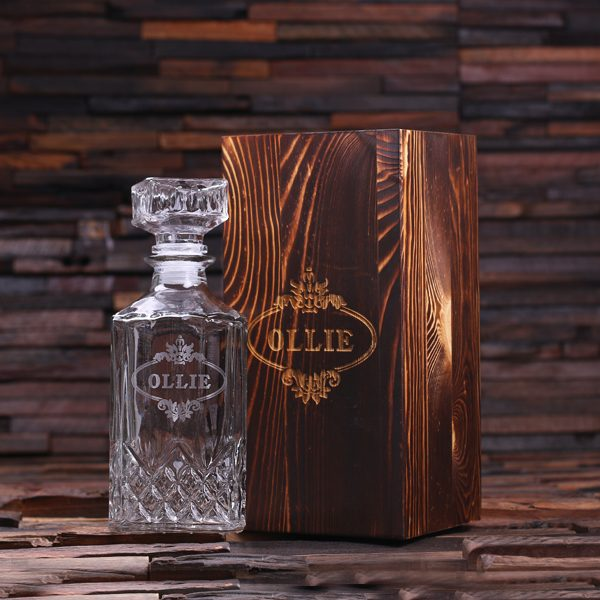 Glass Whiskey Decanter- Personalized