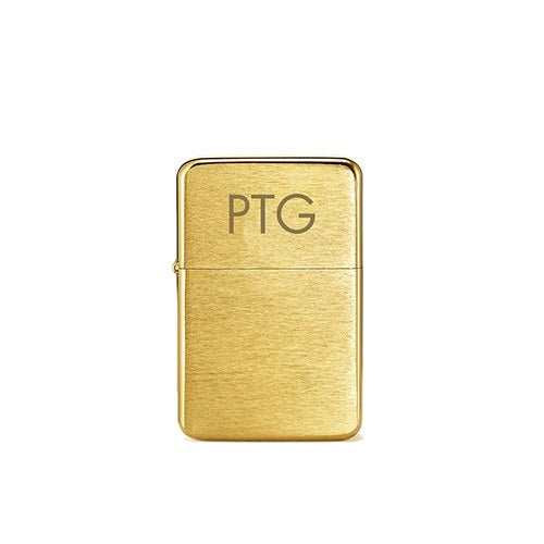 Gold Personalized Monogram Lighter
