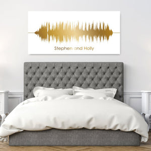 Gold Soundwave Wall Art