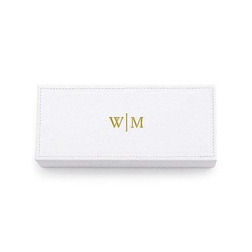 Leather Jewelry Box With Personalized Monogram