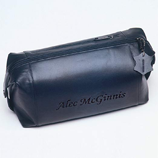 Leather Toiletry Bag- Personalized