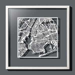Paper Art- Paper Cut Map