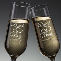 Personalized Anniversary Champagne Flutes
