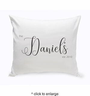 Personalized Decorative Throw Pillow