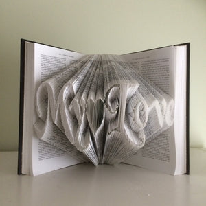 Folded Book Page Art- My Love