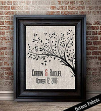 Personalized Framed Cotton Print