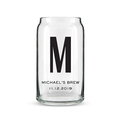 Personalized Monogram Beer Glasses