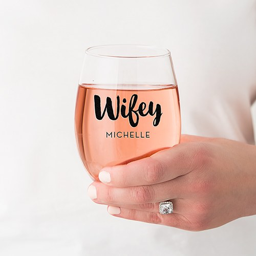 Stemless Wine Glass- Personalized