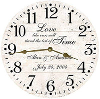 Personalized Wedding Anniversary Wall Clock