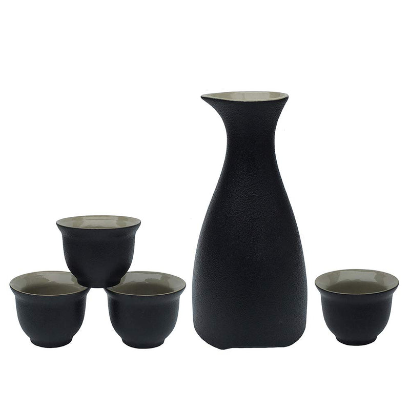 Sake Set- Black Pottery Saki Set