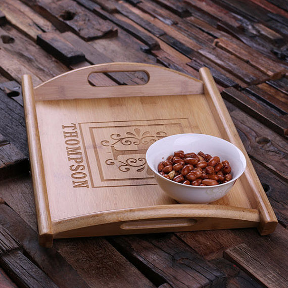 Wood Serving Tray - Personalized