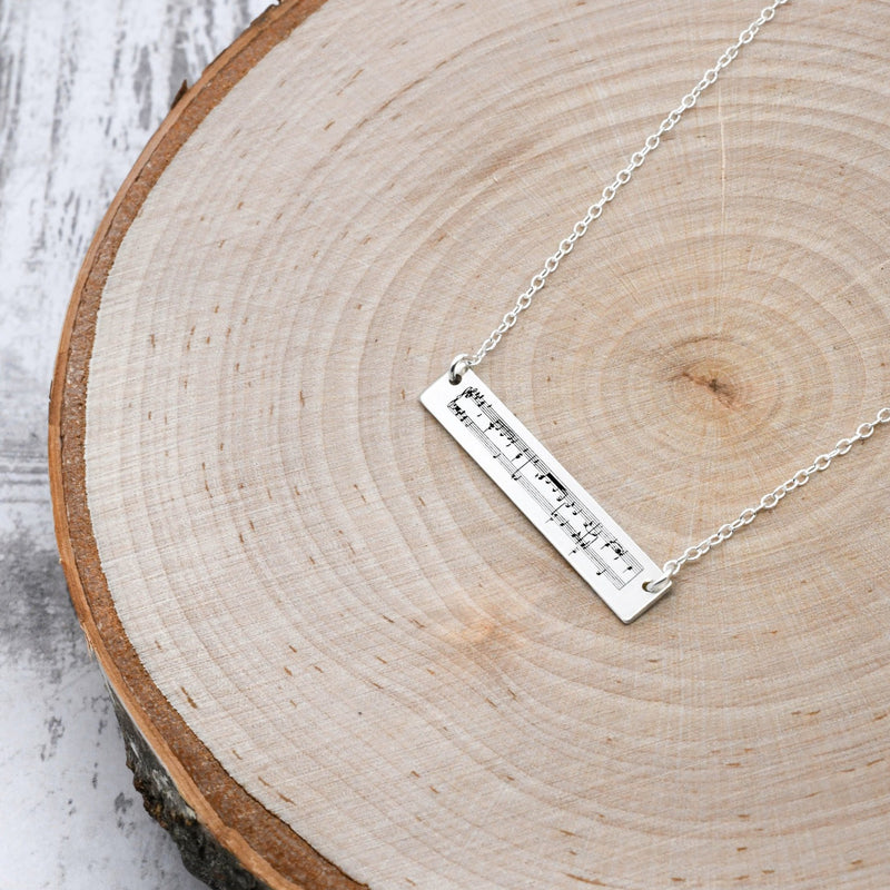 Sheet Music Necklace- 25th Anniversary Gift