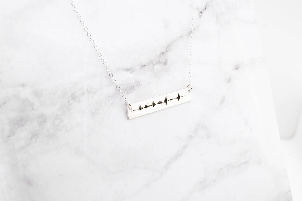 Soundwave Necklace - Silver Anniversary Gift