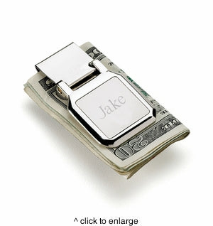 Stainless Steel Folding Money Clip- Personalized
