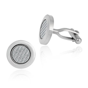 Woven Stainless Steel Cufflinks