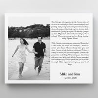 Custom Photo and Wedding Vows