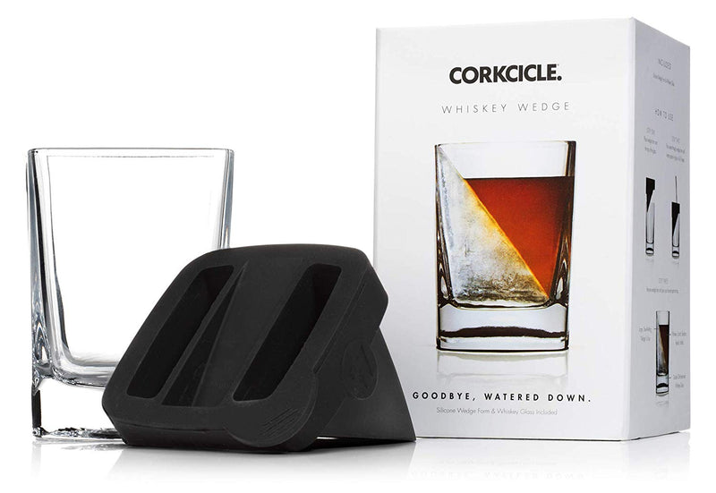 Whiskey Ice Wedge Mold and Glass