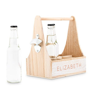 Wood Bottle Holder- Personalized