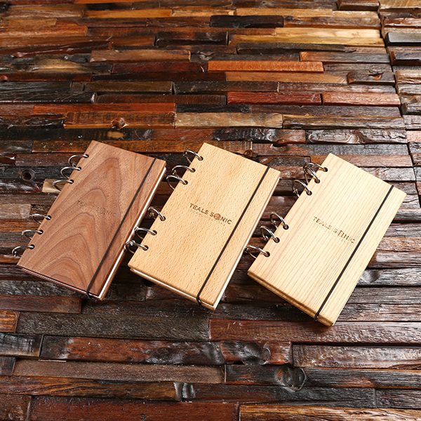 Wood Cover Notebook- Personalized