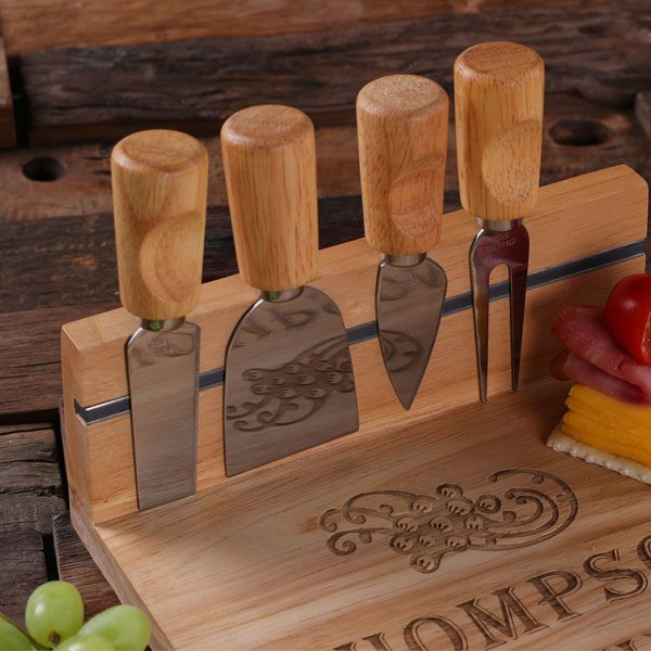 Wood Cutting Board and Serving Tray Set- Personalized