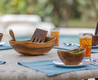 Wood Salad Bowl Set