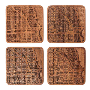 Wooden Coasters- City Map Coaster