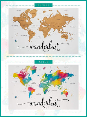 World Travel Map- Scratch Off World Map