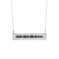 Sound Wave Necklace - 10th Anniversary Gift
