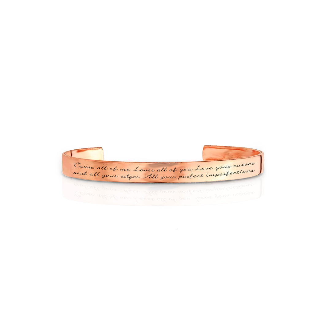 Custom Copper Lyric Bracelet