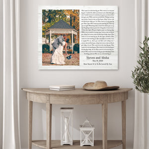 Custom Wedding Song Canvas