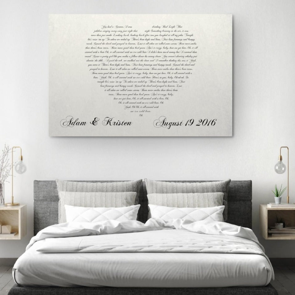 personalized canvas cotton anniversary gift