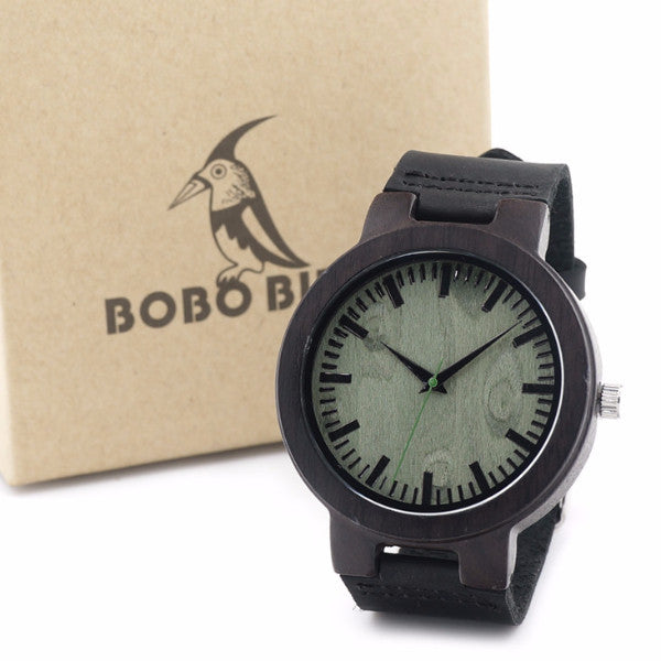 BOBO Black Wooden Watch