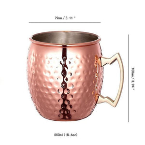 Copper Moscow Mule Mug Set