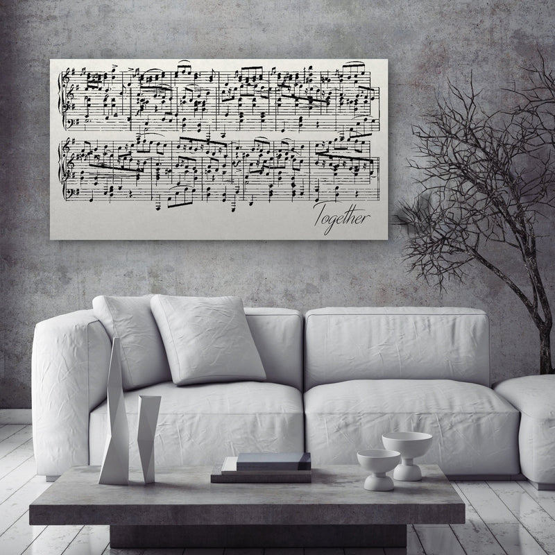 Sheet Music Canvas - Personalized Anniversary Gift