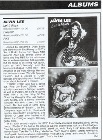 Alvin Lee Review from Billboard Magazine