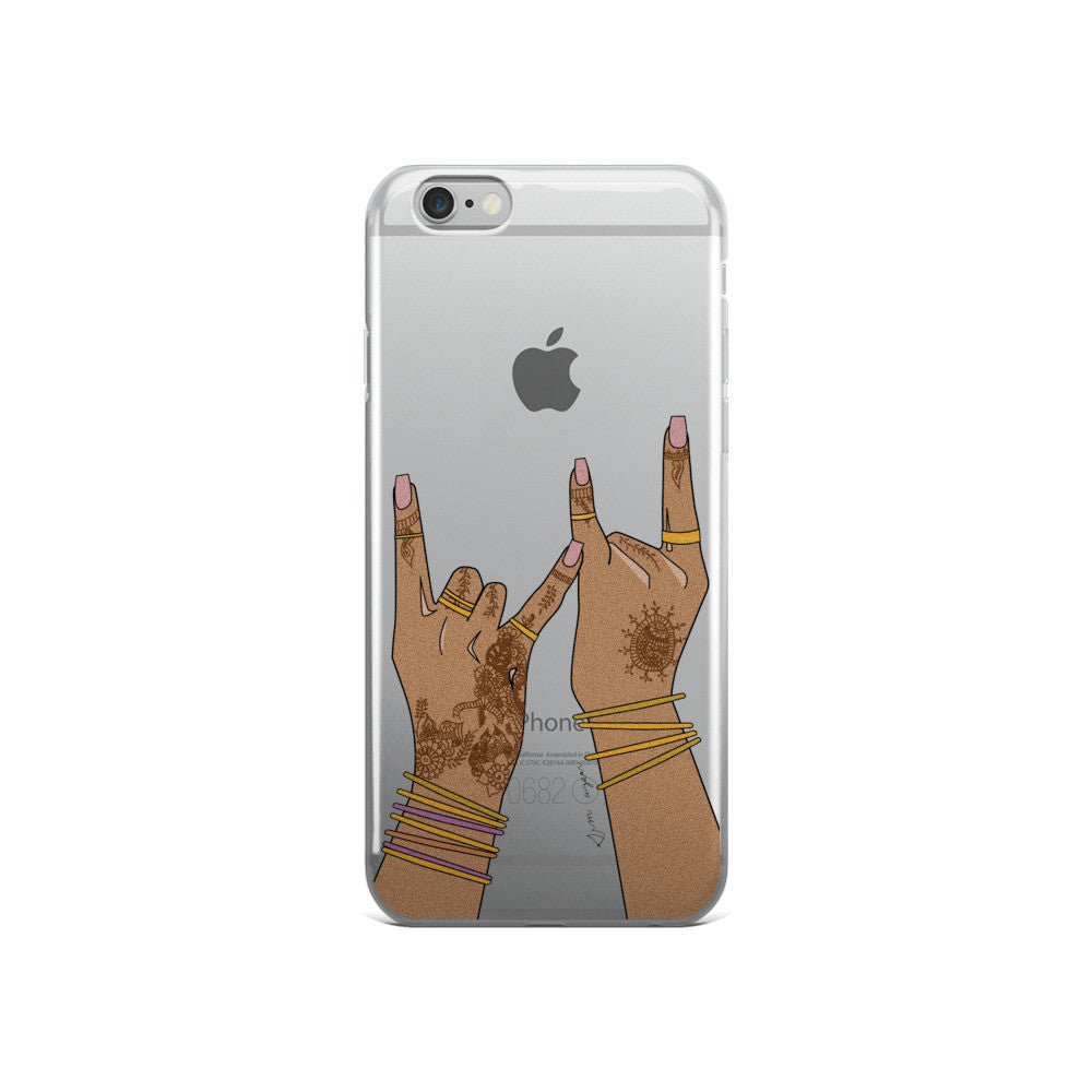 gang gang haath clear-iPhone 5/5s/Se, 6/6s, 6/6s Plus Case
