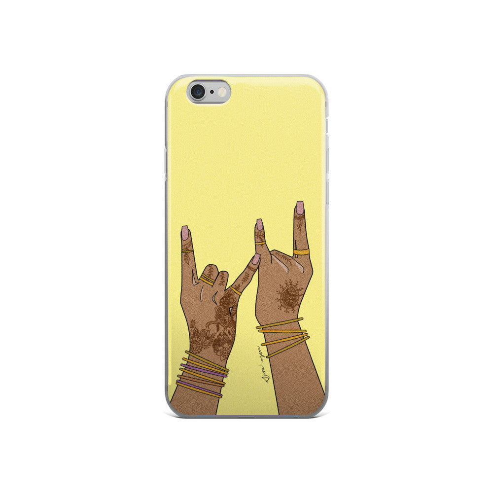 gang gang haath yellow-iPhone 5/5s/Se, 6/6s, 6/6s Plus Case