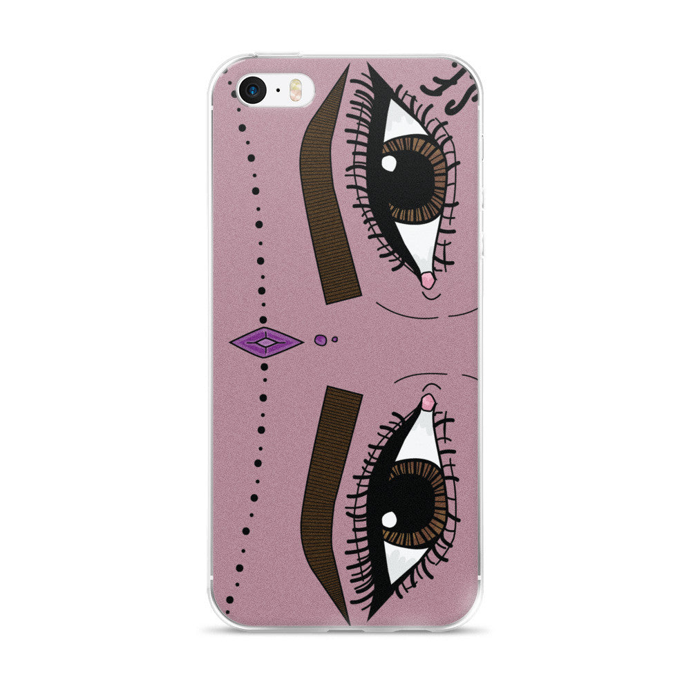 aankhein iPhone case-mauve
