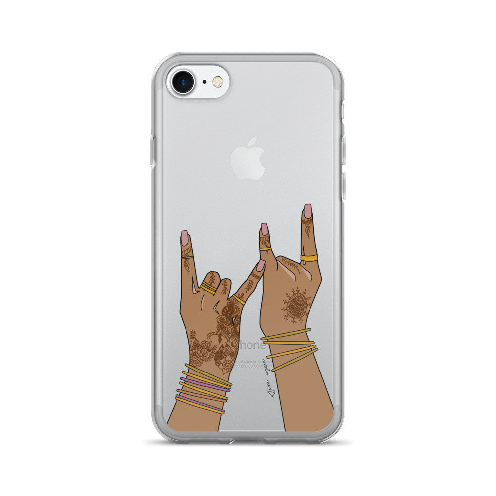gang gang haath clear-iPhone 7/7 Plus Case