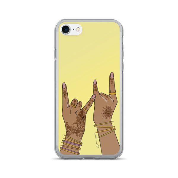 gang gang haath yellow-iPhone 7/7 Plus Case