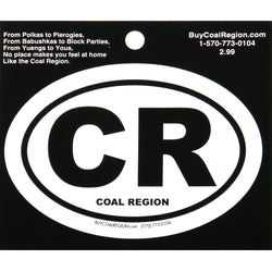 CR (Coal Region) Oval Euro Sticker