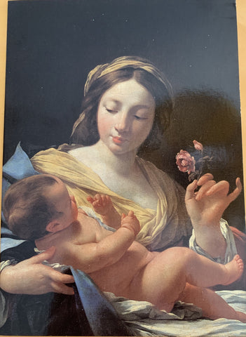 Blank Card Madonna with a Rose