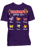 Grandma's  Nana's Butterfly Kisses Personalized T-Shirts Limited Edition On Sale Today Only