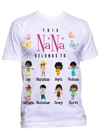 This Nana Grandma Belongs to  T-Shirts **Mother's Day Special** Exclusive Design