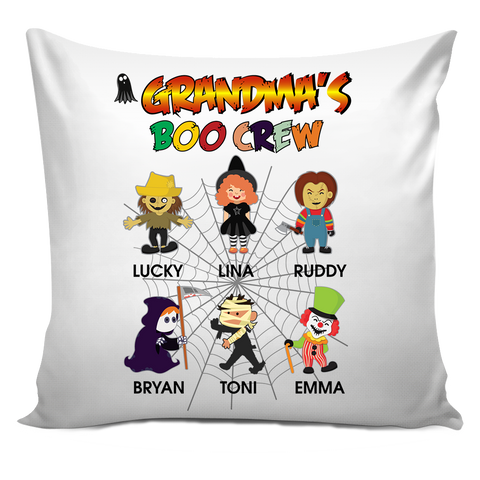Nana's Boo Brew Personalized Pillow Cover Halloween Special Edition